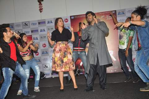 Arjun Kapoor and Sonakshi Sinha groove to the music at the Promotions of Tevar