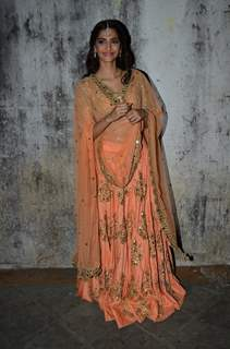 Sonam Kapoor poses for the media at the Music Launch of Dolly Ki Doli