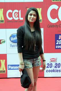 Shefali Sharma was seen at the CCL Match Between Mumbai Heroes and Veer Maratha