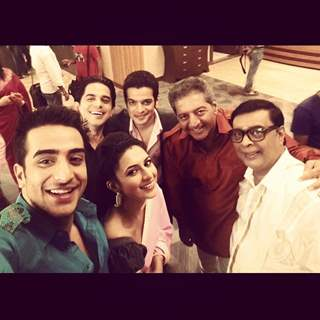 Karan Patel, Divyanka Tripathi, Kaushal Kapoor, Aly Goni and Abhay Bhargavar and  at shoot of YHM