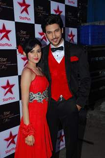 Shivin Narang and Farnaz Shetty pose for the media at Valentines Day Event by Star Plus