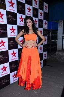 Mihika Verma poses for the media at Valentines Day Event by Star Plus
