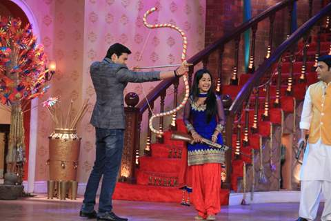 The cast of Shastri Sisters on Comedy Nights With Kapil Mahashivratri Special