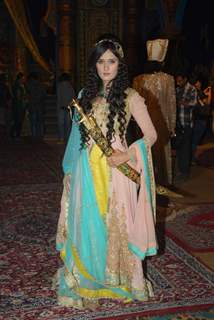 Pankhuri Awasthy poses for the media at the Launch of Razia Sultan