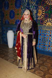 Seema Kapoor poses for the media at the Launch of Razia Sultan