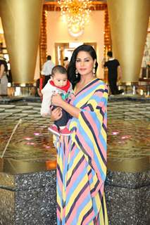 Veena Malik with her son at her Birthday Celebration