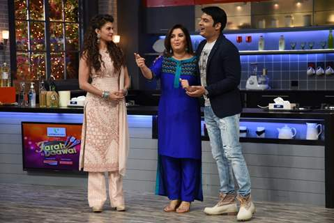 Jacqueline Fernandes, Farah Khan and Kapil Sharma were snapped at Farah Ki Daawat
