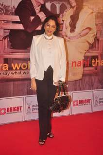 Simi Garewal poses for the media at the Premier of the Play Mera Woh Matlab Nahi Tha