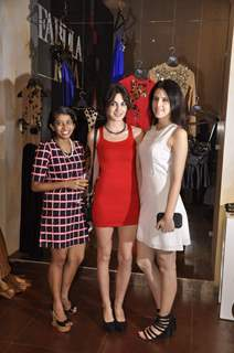 Tulip Joshi poses with friends at Fabula Rasa Collection Launch