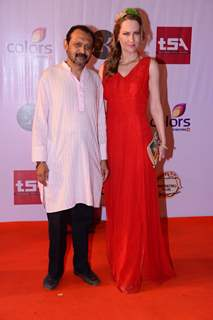 Akhil Mishra and Suzanne Bernert at the Television Style Awards