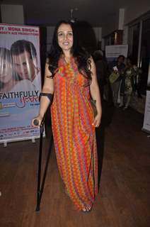 Suchitra Krishnamurthy poses for the media at the Preview of the Play Unfaithfully Yours