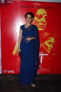 Rajeshwari Sachdev poses for the media at Narayani Shastri's Film Launch