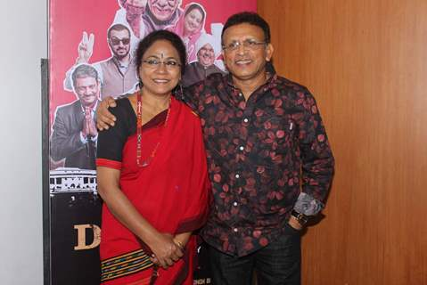 Seema Biswas and Anu Kapoor pose for the media at the Trailer Launch of Jai Ho Democracy