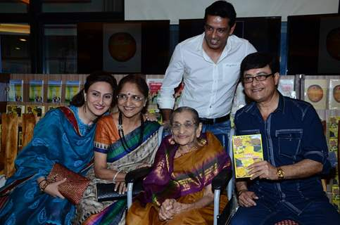 Celebs pose for the media at the Launch of the Book Great Grandma's Kitchen Secret