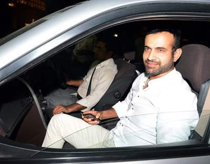 Irfan Pathan was snapped at Suresh Raina and Priyanka Chaudhary's Wedding Ceremony