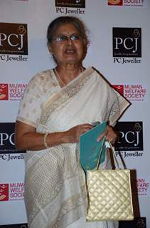 Sulbha Arya poses for the media at the Red Carpet of 'Mijwan-The Legacy'
