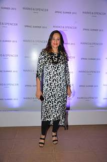 Rakshandha Khan poses for the media at Marks & Spencers Spring/Summer 2015 Collection Launch