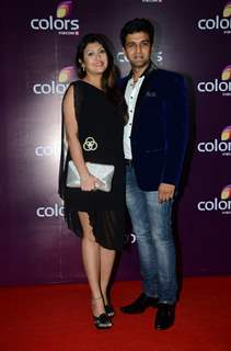 Juhi Parmar and Sachin Shroff at Color's Party