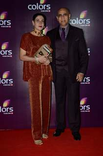 Puneet Issar withe his Wife at Color's Party