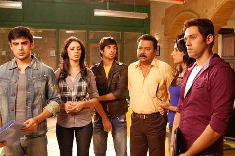 Sumit with the cast and crew of Surya The Super Cop.