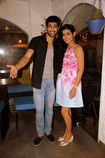 Ashim Gulati and Akanksha Singh at Launch of New Tv Show 'Gulmohar Grand' by Star Plus