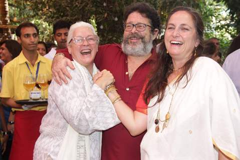 Nafisa Ali with Sanjana and Kunal Kapoor at the Felicitation Ceremony of Shashi Kapoor