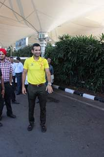 Irfan Pathan Snapped at Airport
