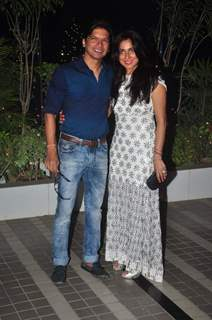Shaan with his Wife at Success Bash of Mary Kom