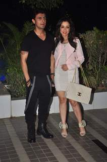 Sonu Nigam with his Wife at Success Bash of Mary Kom