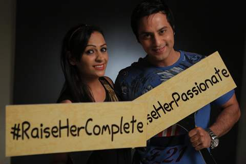 Ashita Dhawan and Saillesh Gulabani at the O Meri Jaan Music Video Shoot
