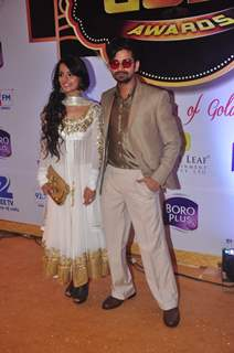 Vishal Singh and Mahima Makwana at Gold Awards