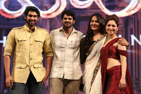 rana Daggubati, Anushka Shetty and Tamannaah Bhatia at Music Launch of Baahubali