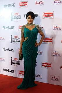 Shreya Saran was at the 62nd South Filmfare Awards