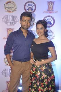 Srishty Rode and Manish Naggdev at the Press Meet of Box Cricket League