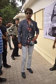 Irrfan Khan poses for the media at the DVD Launch of Piku