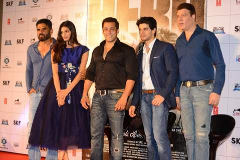 Celebs pose for the media at the Trailer Launch of Hero