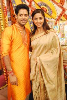 Aarya Dharmachand Kumar and Gautami Kapoor on the Sets of Tere Sheher Mein