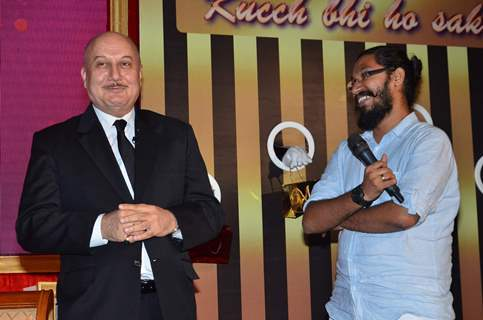 Anupam Kher at the Launch of Season 2 of The Anupam Kher Show Kucch Bhi Ho Sakta Hai