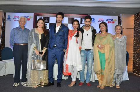 Sidhant Gupta, Jasmin Bhasin and Zain Imam at Launches of Zee TV's New Show 'Tashan-e-Ishq'
