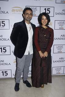 Shraddha Nigam and Mayank Anand at Lakme Fashion Week