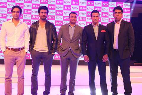 Ronit Roy and Sharad Kelkar at Launch of & TV's 'Deal Or No Deal' and 'Agent Raghav - Crime Branch'