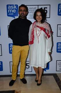 Mayank Anand and Shraddha Anand at Lakme Fashion Week Day 3