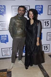 Mayank Anand and Shraddha Nigam at Lakme Fashion Week Day 5