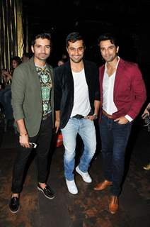 Vishal Singh, Vishal Karwal and Anuj Sachdev at Richa Sharma's Album Launch