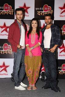 Vibhav, Shreetima and Gautam at Launch of Star Plus New Show 'Kuch Toh Hai Tere Mere Darmiyaan'