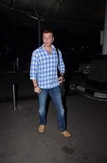 Aditya Pancholi Snapped at Airport