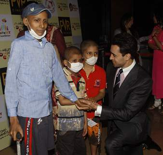 Imran Khan was snapped interacting with Kids at the Special Screening of Katti Batti