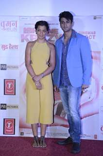 Mugdha Godse and Nishant Malkani pose for the media at the Trailer Launch of Ishq ne Krazy Kia Re