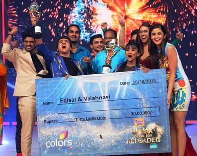 Faisal Khan and Vaishanvi Winning Moment at Jhalak Dikhhla Jaa Reloaded