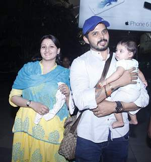 Shreesanth and Wife Snapped at Airport